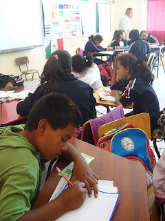 Alumnos de la escuela Guadalupe Victoria