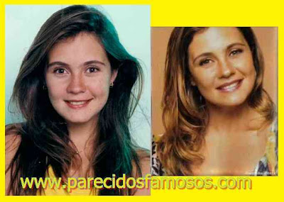 Actriz Brasilena Adriana Esteves antes y después