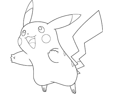 #8 Pikachu Coloring Page