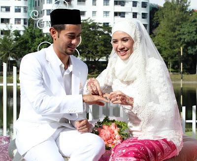 gambar kahwin Diana Danielle dan Farid Kamil