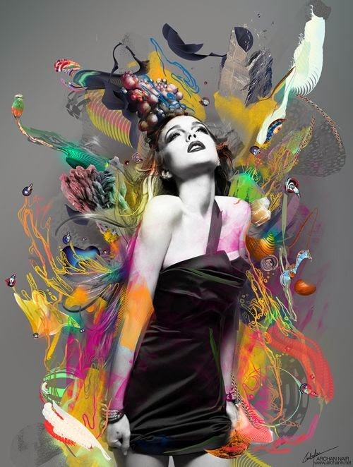 Archan Nair illustrations colored surreal psychedelic