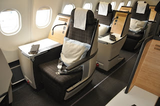Swiss Airlines Business Class Cabin