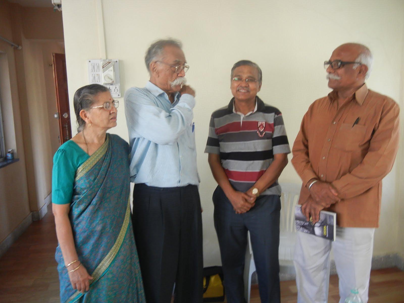 With Bhalchandra Nemade & Ranganath Pathare