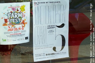 Junction Design Crawl + Junction Farm Fest, posters in the Toronto Junction