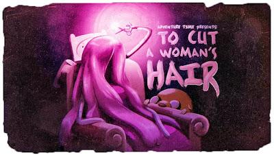Para cortar cabelos de uma mulher