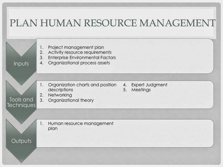 PMP Study guide: Project Human Resource Management - Plan Human ...