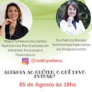 Live , dia 05 de agosto, às 18:00, no Instagram:@nuttryeduca_