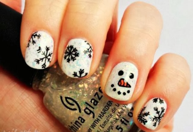 Unhas decoradas,nail art, Natal