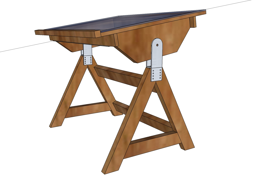 adjustable drafting table plans