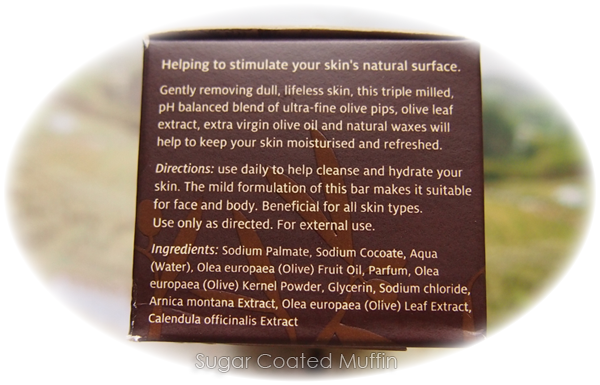 Tebe Exfoliating Soap Bar ingredients list