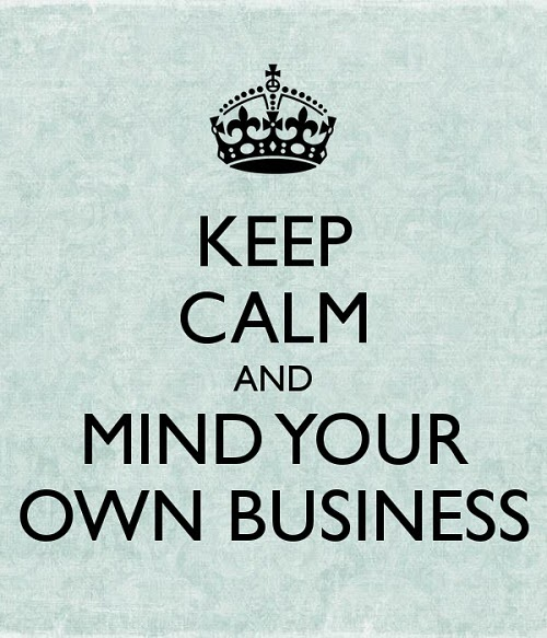 KEEP CALM MIND BUSINESS