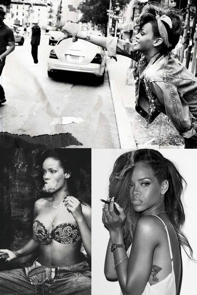 GANG GIRL-Rihanna-o estilo de rihanna-moda de rua-jeans-trend jeans-t-shirts-como usar camiseta no look-01
