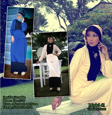 Katalog Busana Muslim Mazaya Biru benhur Salem