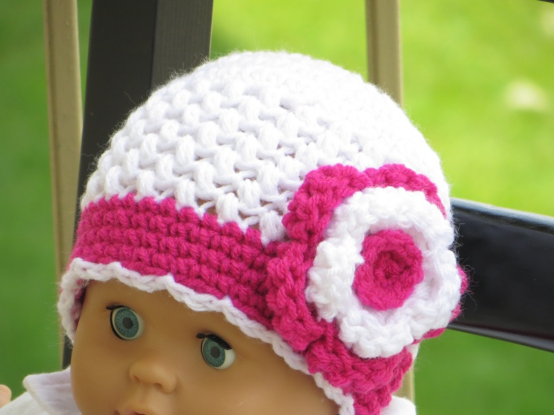 Crochet Patterns Of Baby Hats : Crochet Dreamz: Sofia Beanie Crochet Pattern, Newborn to ...