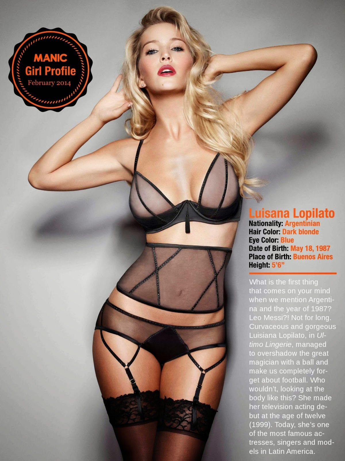 Luisana Lopilato HQ Pictures Manic Magazine Photoshoot February 2014