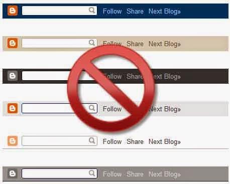 Cara Menghilangkan Navbar Blog