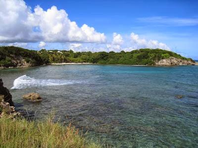 Vue sur la plage de l'Anse à Jacques, Petit Havre, Guadeloupe