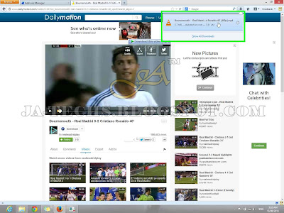 Downloading Video Clips from DailyMotion - Tutorial Step 10