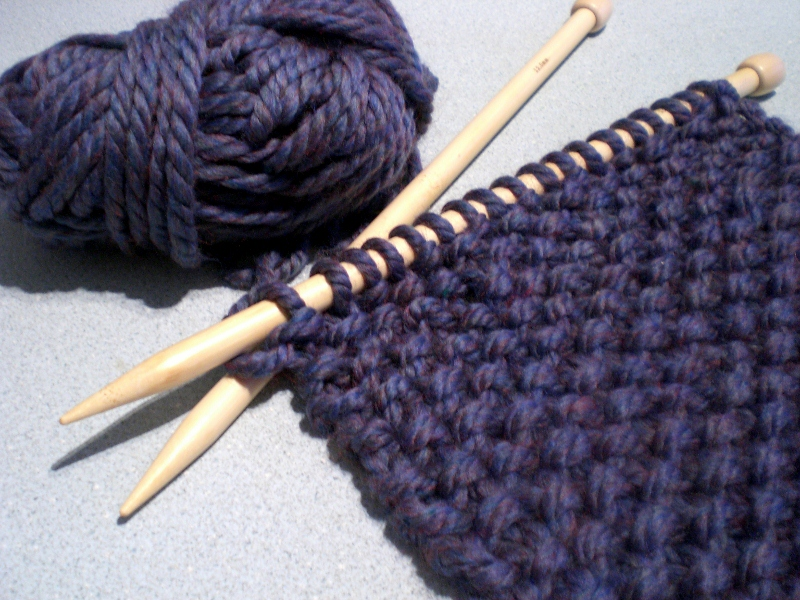 do a bit: Knitting: big wool and big needles