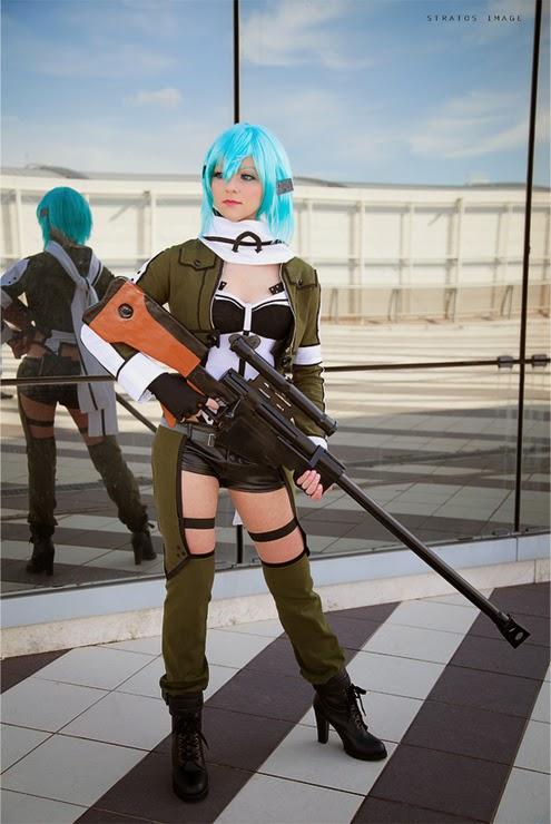 Foto Cosplay Sinon (Sword Art Online II) 06