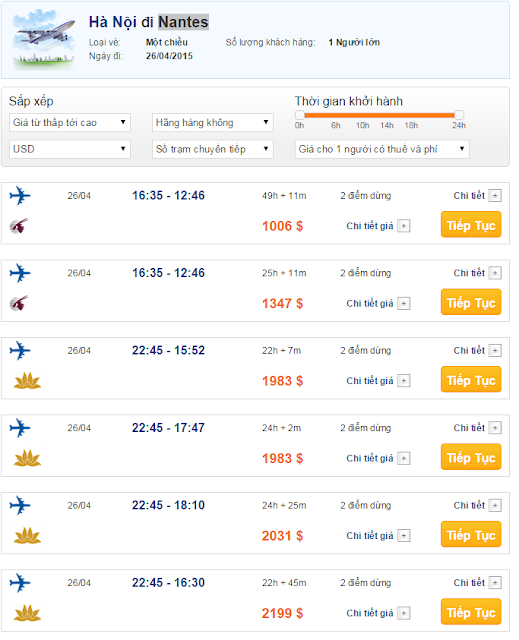Vé máy bay đi Nantes giá rẻ 2015_2