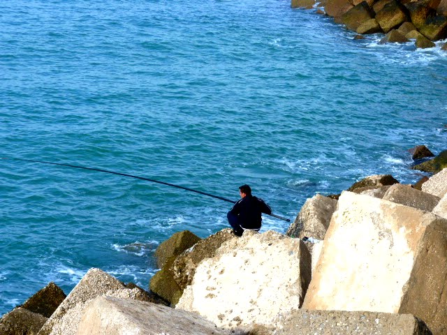 Pescando en Cádiz