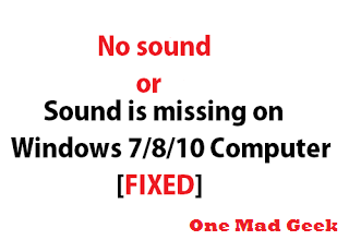 no sound from my pc