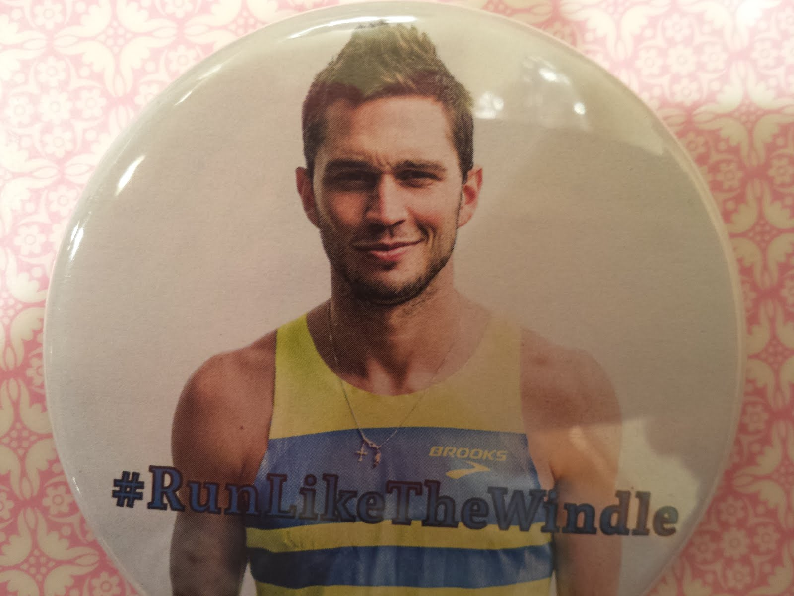#RunLikeTheWindle button - one of the best collectibles from London's World Championships