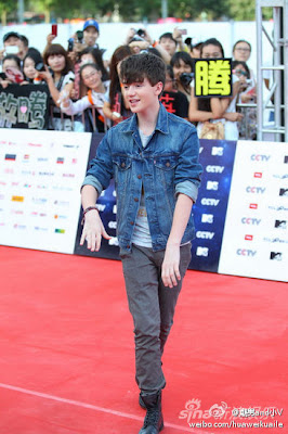 Greyson Chance red carpet MTV Awards Beijing China