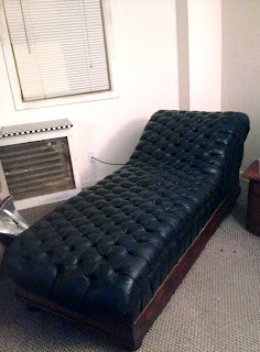 Midcentury psychologist style couch