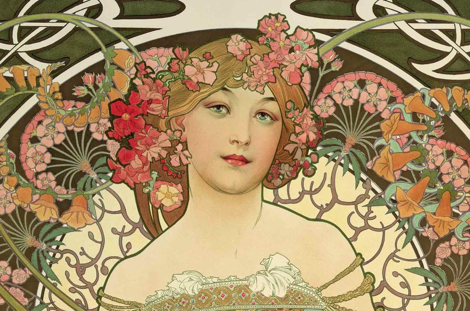 Awesome Peinture Art Nouveau Gallery - Joshkrajcik.us - joshkrajcik.us