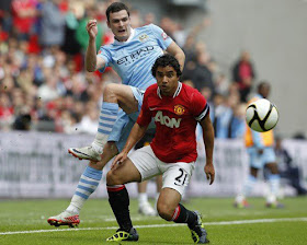 Rafael da Silva Manchester United v Manchester City Community Shield