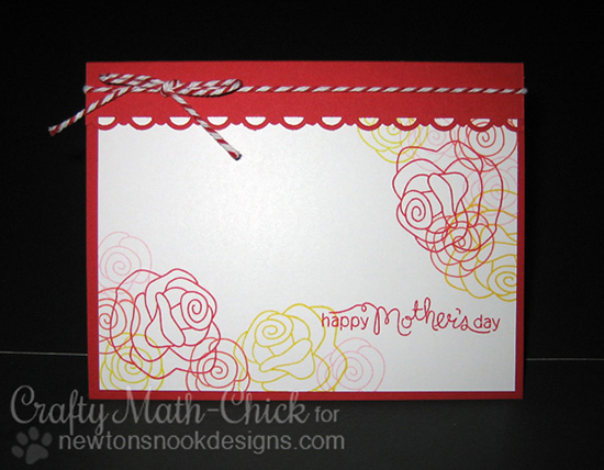Mother's Day Rose card by Crafty Math-Chick for Newton's Nook Designs | Love Grows