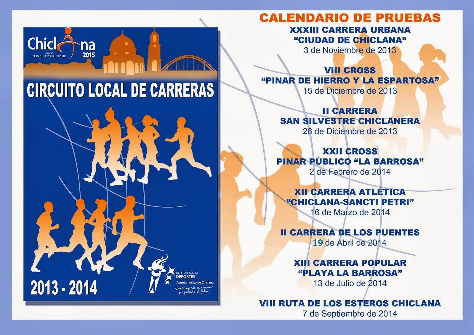 CIRCUITO 2013-14 CARRERAS POPULARES EN CHICLANA