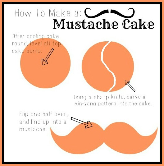 to make this cake for her husband s 30th birthday a k a the mustache ...