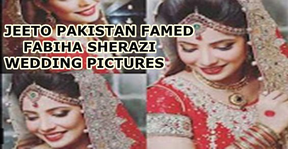 Fabiha Sherazi Wedding Pictures
