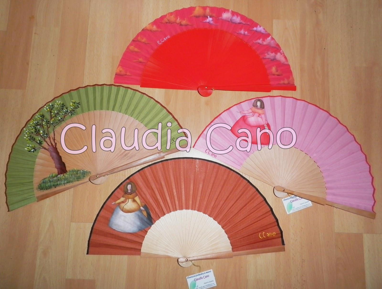 Abanicos pintados a mano por Claudia Cano: Seguimos con abanicos más