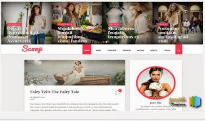 SCOOP FASHION GIRLS Blogger Template Responsive