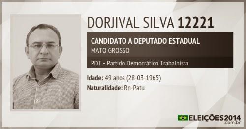 Dorjival Silva é candidato ao cargo de deputado estadual de Mato Grosso