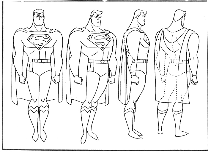 Cartoon Character Design Sheet : Amazing cosmic powers model sheet monday superman