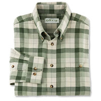 Orvis signature twill shirt - green and khaki