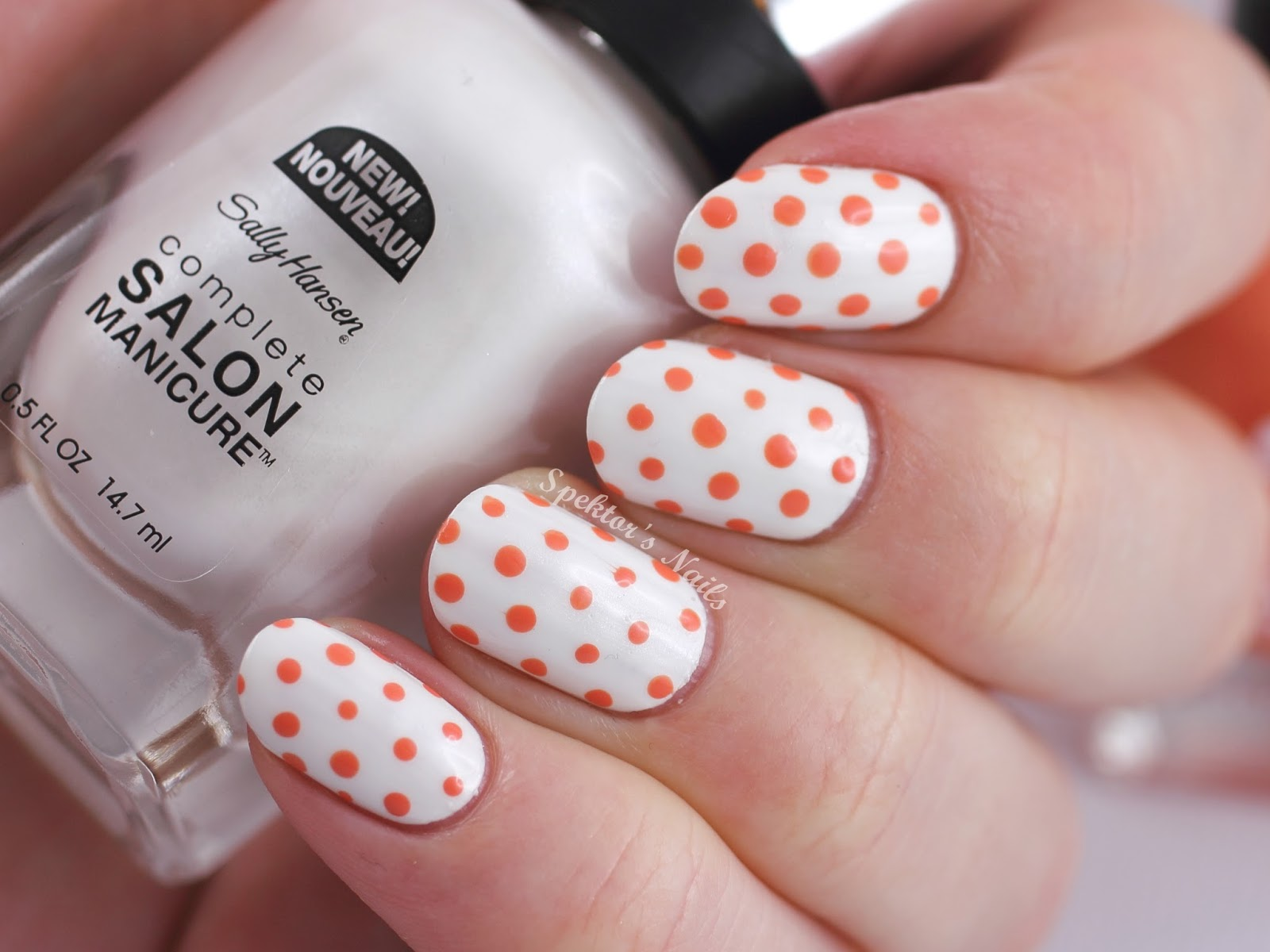 Peachy Polka Dots feat. Sally Hansen Bleach Babe Tahitian Sunset