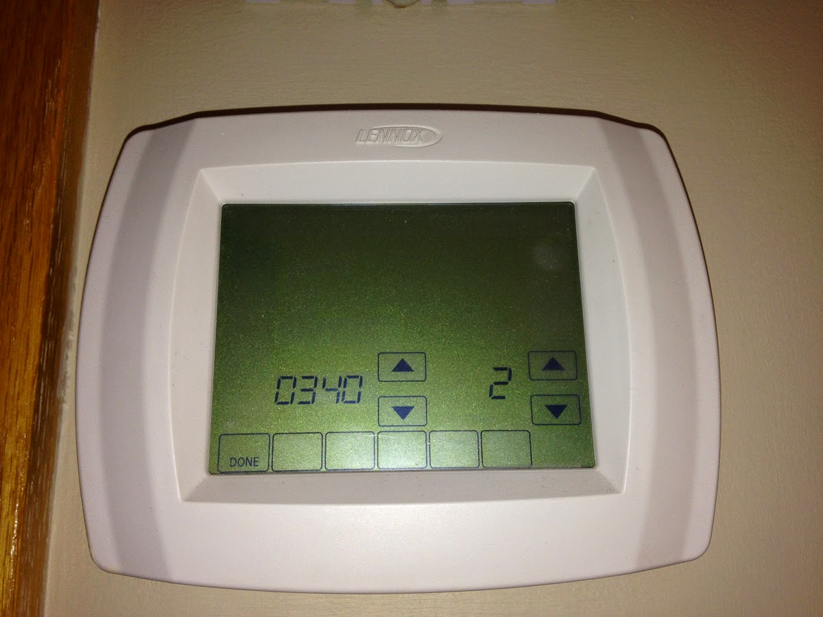 Glen 39 s home automation lennox elite series thermostat for Heat setting for home