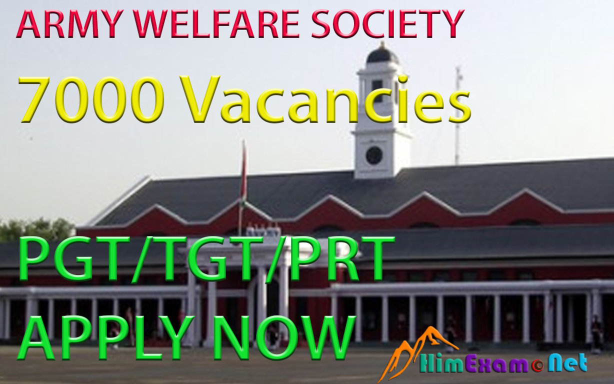 Army Welfare Education Society (AWES) Requires 7000- PGT/TGT/PRT Teachers- Apply Now