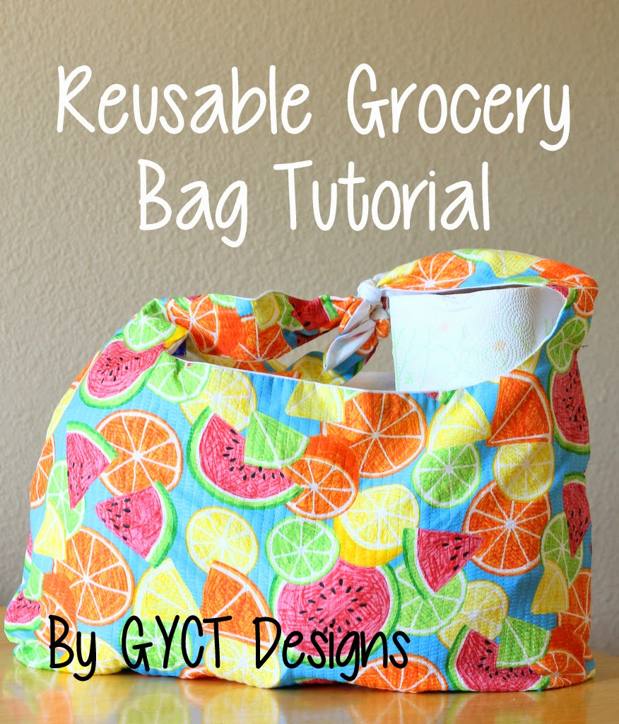 Reusable Grocery Bag PDF Pattern for Organize Me! Sizzlin' Summer