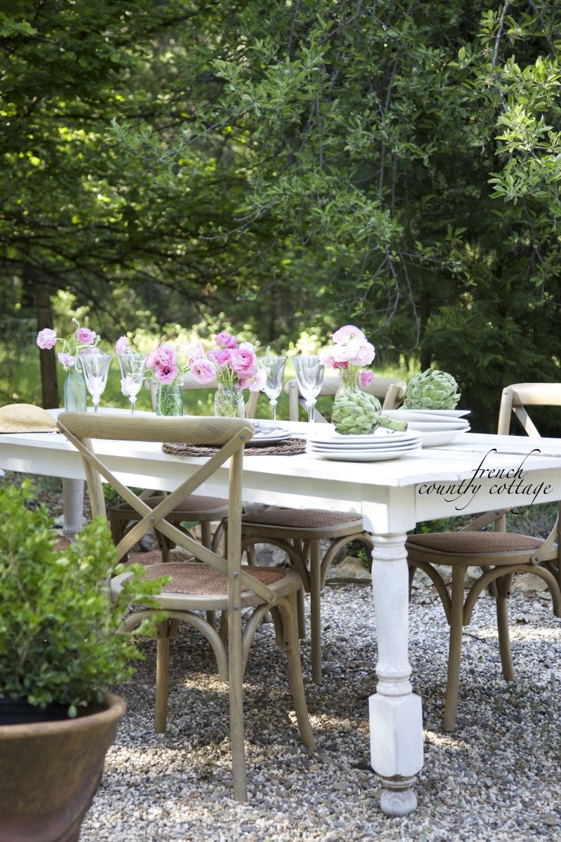 Dining Outdoors On The Patio French Country Cottage