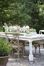 Dining Outdoors Patio - French Country Cottage