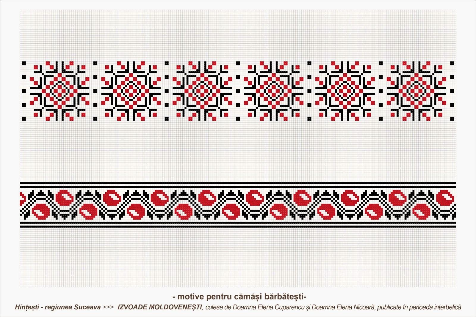 Semne cusute romanian traditional motifs moldova suceava sat hintesti - Beautiful romanian folk motifs ...