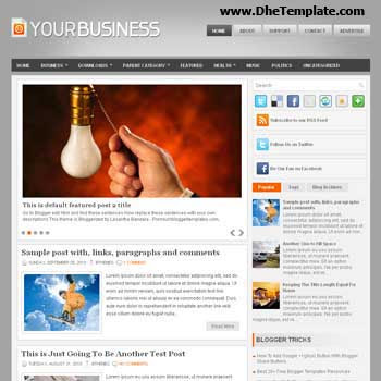 Your Business blog template. template image slider blog. magazine blogger template style. wordpress theme to blogger