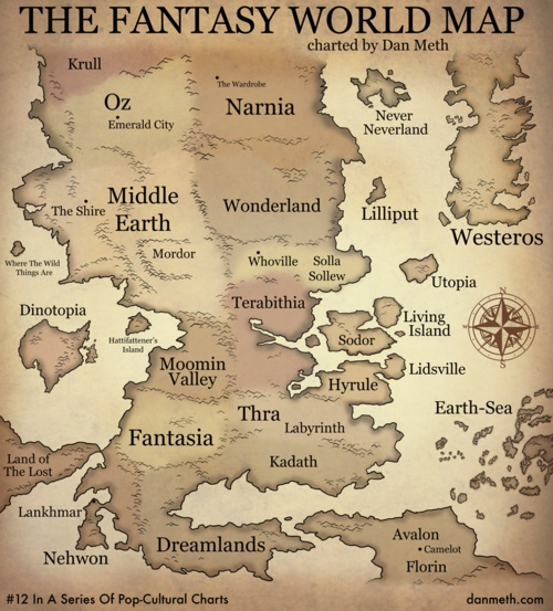 Fantasy World Map jjbjorkman.blogspot.com